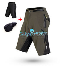 2015 Cycling Bicycle MTB Shorts Leisure 1/2 Half Pants 4D Padded Underwear 059