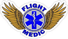 Flight Medic Star of Life Reflective Decal Sticker Paramedic EMS Helicopter