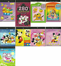 Disney Princesse Mickey Mouse marie le chat tattoo smileys autocollants livre mini.