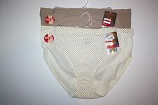 2 Warner's Your Panty Hi-Cut Brief Panties 5141 Women's 8 Multi-Color NWT