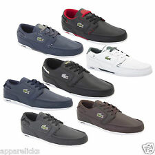 Lacoste Dreyfus LCR CR2 Mens Leather Trainers Black Blue Brown Lace Up Sneakers