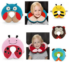 4 Pattern Baby Kid Animal Print Car Seat Toy Pillow Travel Neck Rest Stroller