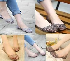 Womens Lady Crystal Slip On Shoes Soft Rubber Glitter Flats Ballet Jelly Sandals