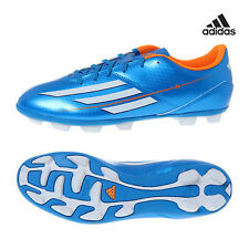 Mens Adidas F5 TRX Hard Ground Moulded Studs Football Soccer Blue White Boots