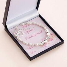 Thank you Gift for Bridesmaid, Personalised Bracelet, Any Name! High Quality!