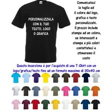 T-Shirt Maglia Personalizzata 30x40 Uomo Valueweight Cotone Fruit of the Loom M9