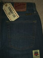 LUCKY BRAND 165 Mid Straight Relaxed Dark Denim Mens Sz 32 Jeans Measure 34x32.5