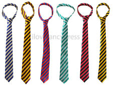 THICK STRIPED TIE SCHOOLBOY SATIN NECKTIE ST TRINIANS FANCY DRESS HEN STAG PARTY