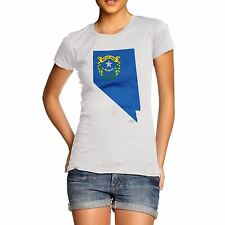 Twisted Envy Women's USA States and Flags Nevada 100% Organic Cotton T-Shirt