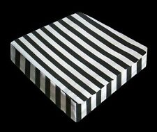 FFA-141 Black And White Stripes Canvas Decorative Pillow Covers Throw