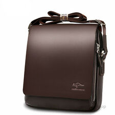 Kangaroo Fashion Mens Leather Crossbody Shoulder Bag Messenger Bag Briefcase