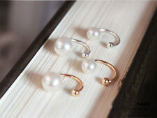 2pcs Silver Gold Pearl  Wrap Ear Cuff Earring Cartilage Clip On No Piercing CA