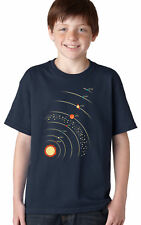 Youth Planets With Sun T Shirt Cool Solar System Tee For Kids