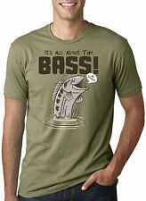 All About The Bass T Shirt Funny Fishing Music Parody Tee