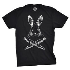 Jolly Roger Easter T Shirt Funny Easter Bunny Pirate Flag Tee