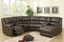 4087 Modern Leather couch Sectional Sofa with Recliners 4 Pc Living room set NEW