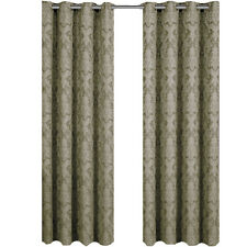 Blair Sage Woven Jacquard Grommet-Top Window Curtain Panel Pair (Set of 2)