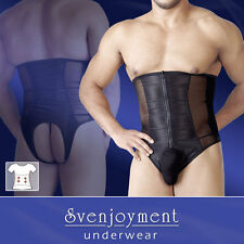 Svenjoyment Mens Zipper Crotchless Bodice Girdle Playsuit  Gay Fetish BNWT