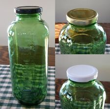 Replacement Caps / Lids for Vintage Green Glass Refrigerator Water-Juice Bottles
