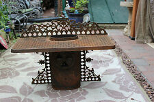Antique Cast Iron Wood Coal Burning Chimney Furnace Stove Top Shelf-Victorian