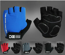 Cool Cycling Bike Outdoor Sport Bicycle Shockproof Ventilation Half Finger Glove