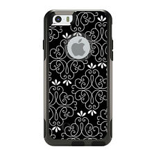 OtterBox Commuter for iPhone 5S SE 6 6S 7 Plus Black White Floral