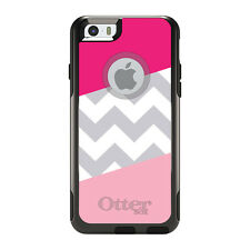 OtterBox Commuter for iPhone 5S SE 6 6S 7 Plus Hot Pink Block Grey Chevron
