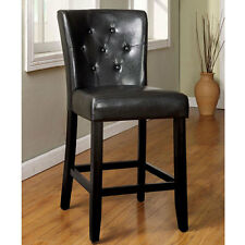 Woodmoor Leatherette Finish Counter Height Dining Chair (Set of 2)