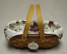 Longaberger 2006 Red Nature's Berry Tree Trimming Basket -Liner-Protector-Tie-On
