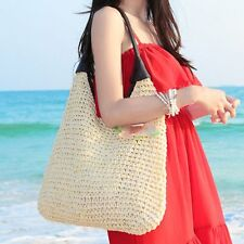 New Lady Women Straw Bags Woven Pure Shoulder Bag Women Summer Handbag Beach Bag