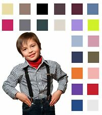 New Suspenders For Kids Boys Toddler Elastic Adjustable Clip-on Braces USA Made