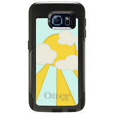 CUSTOM OtterBox Commuter for Galaxy S4 S5 S6 S7 Blue Yellow Sun Sky Clouds