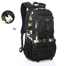Men's Backpacks Laptop Packs travel Rucksack shoulder 35L Hiking bag Satchel NEW