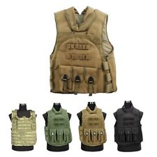MOLLE Tactical Army Airsoft Plate Carrier Combat Assault Vest Chest Rig Webbing