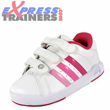 Adidas Infants BTS Class II CF Velcro Trainers White Pink AUTHENTIC