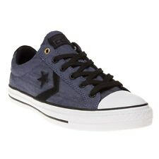 New Mens Converse Blue Star Player Ox Textile Trainers Canvas Lace Up
