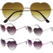 Vintage Retro Fashion Lolita Heart Shaped Aviator Metal Frame Women Sunglasses