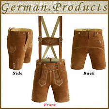 Authentic German Bavarian Oktoberfest Trachten Short Length L.B Lederhosen GP346