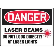 NS Signs Danger Laser Beams Do Not Look Directly At Laser OSHA Safety Sign