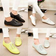 Womens Stripe Style Slip On Canvas Sneakers Oxfords Leisure Loafer Shoes Pop