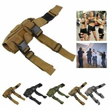Adjustable MOLLE Tactical Army Pistol Gun Drop Leg Thigh Holster Pouch Holder