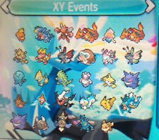 Pokémon ORAS XY , XY Event 6Gen (Offer!)
