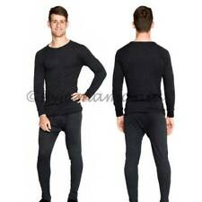 Thermals Mens Wool Blend Thermal Underwear 2pc Set Black (sz S-XXL) Sz S M L XL