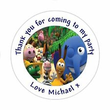 Personalised Jungle Junction Birthday, Goody Bag Stickers Party Thank You