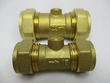 BRASS ISOLATING VALVE COMPRESSION 15mm, 22mm pack of 1, 2, 5