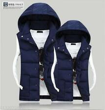 NEW men&women winter lovers vest detachable cap Down cotton waistcoat jacket