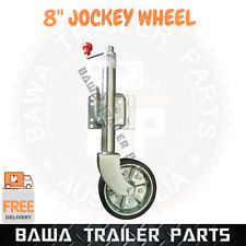 "8"" Heavy Duty Swing Up Trailer Jockey Wheel with steel wheel! Trailer Parts"