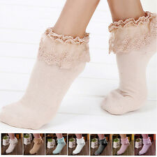 Princess Girl Cute Sweet Women's Vintage Lace Ruffle Frilly Ladies Ankle Socks
