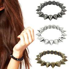 Fashion Girl Bracelet Punk Rock Gothic Rock Rivet Stud Spike Rivet Bangle