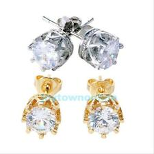 New Fashion women crown stud zircon crystal silver/gold gold plating Earrings